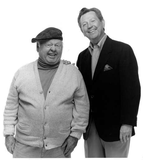 "Rooney, left, with Donald O'Connor in ""The Sunshine Boys"" at Jones Hall, 1990"