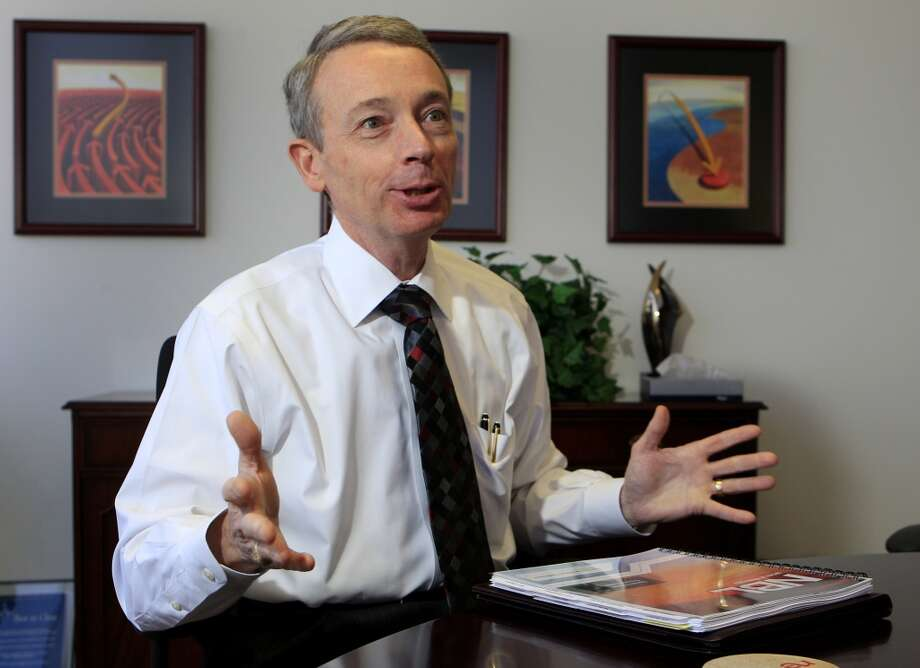 "Charles Davidson CEO of Noble Energy  Up 14 percent  2013: $14 million 2012: $12.2 million  [Photo: Charles ""Chuck"" Davidson, CEO of Noble Energy, discusses a natural gas discovery the company made offshore in Israel during an interview in January 2011 in Houston.] Photo: Brett Coomer, Houston Chronicle"
