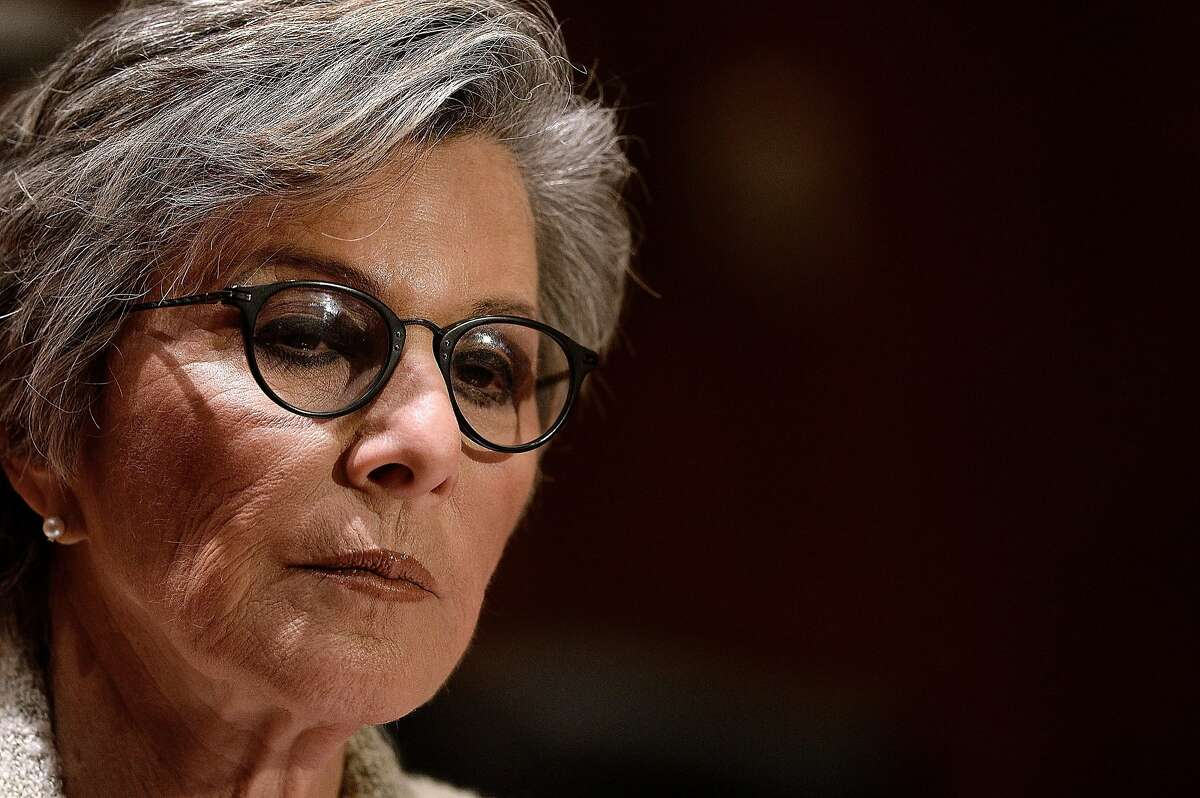 Senator Barbara Boxer (D-CA), chairman of the Committee on Environment and Public Works (EPW), speaks at a news conference to call on Secretary of State John Kerry and the Obama Administration to analyze the public health risks to communities from the proposed Keystone pipeline on Capitol Hill March 13, 2014 in Washington, DC. (Olivier Douliery/Abaca Press/MCT)