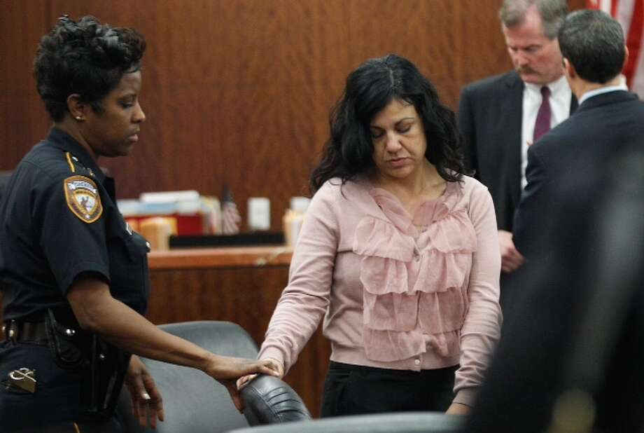 Convicted killer Ana Trujillo arrives in court for punishment phase of her trial Wednesday, April 9, 2014, in Houston. Trujillo was convicted in the brutal 2013 slaying of her boyfriend, Alf Stefan Andersson, using a 5-inch stiletto shoe. Photo: Brett Coomer / Houston Chronicle