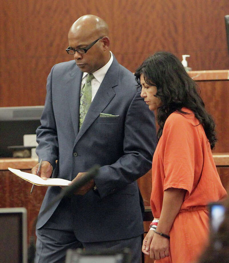 Ana Lilia Trujillo appears in Judge Brock Thomas' 338th State District Court in June 2013. Photo: James Nielsen, (James Nielsen / Houston Chronicle) / © 2013  Houston Chronicle
