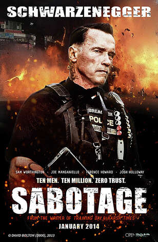'Sabotage' - With Arnold Schwarzenegger lending his intimidating presence, this action drama tracks a crack team of DEA agents plotting their own heist. While they manage to make off with $10 million, the daring thieves are soon being knocked off one by one. Available Nov. 19 Photo: Contributed Photo / Westport News