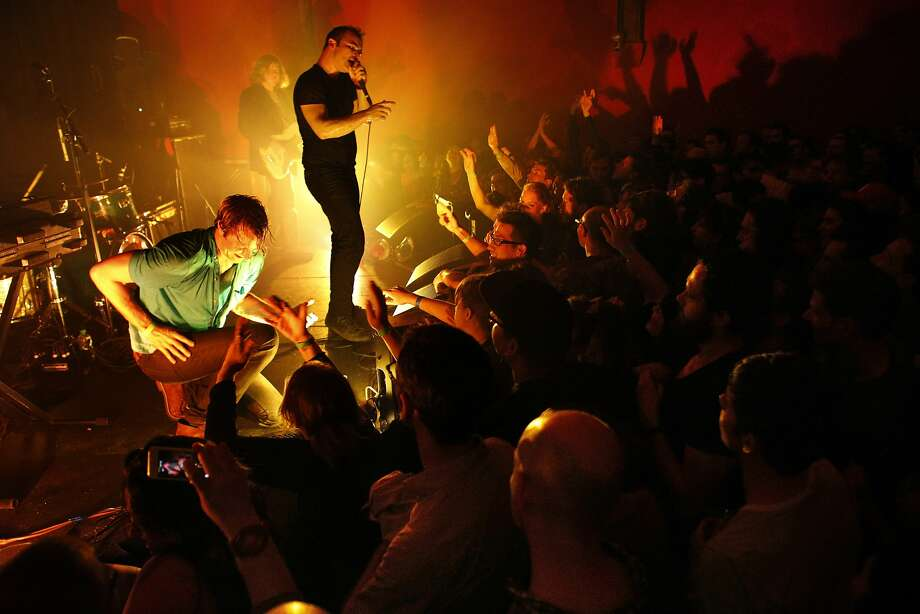 Future Islands plays to a sold-out audience at the Chapel in San Francisco last week. The venue opened in 2012. Photo: Carlos Avila Gonzalez, The Chronicle