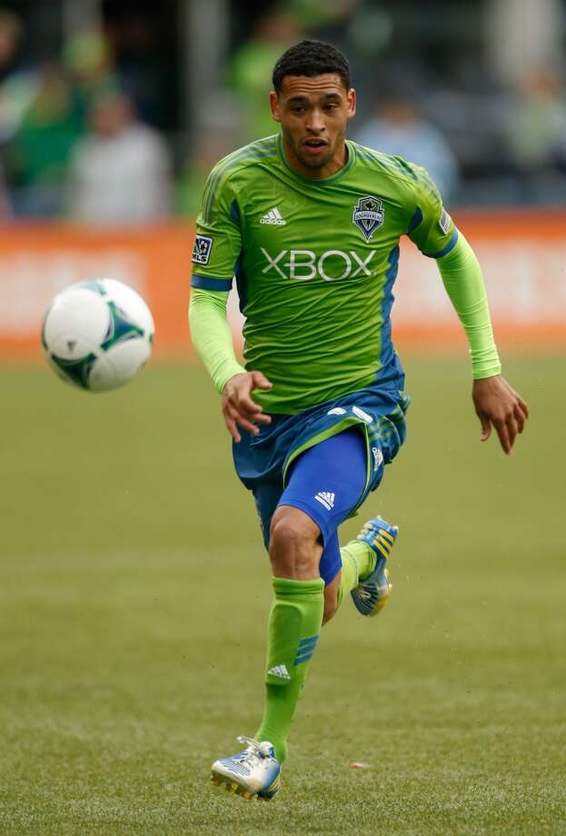 Lamar Neagle#27, midfielder/forward  2014 base salary: $110,0002014 guaranteed: $110,000  2013 guaranteed: $48,400 Photo: Otto Greule Jr, Getty Images
