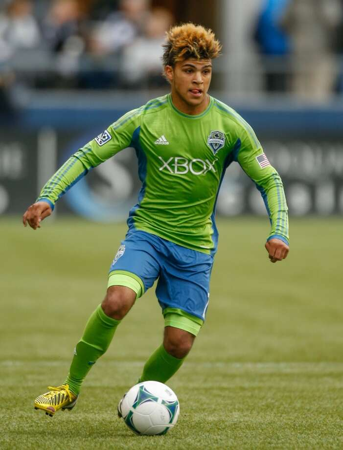 DeAndre Yedlin#17, defender — homegrown player  2014 base salary: $80,0002014 guaranteed: $92,000  2013 guaranteed: $53,500 Photo: Otto Greule Jr, Getty Images