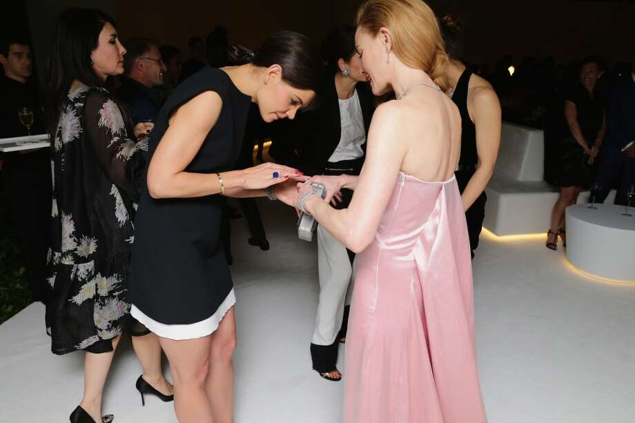 Katie Holmes and Kate Bosworth attend the Tiffany Debut of the 2014 Blue Book on April 10, 2014 at the Guggenheim Museum in New York, United States. Photo: Neilson Barnard, Getty Images For Tiffany & Co.