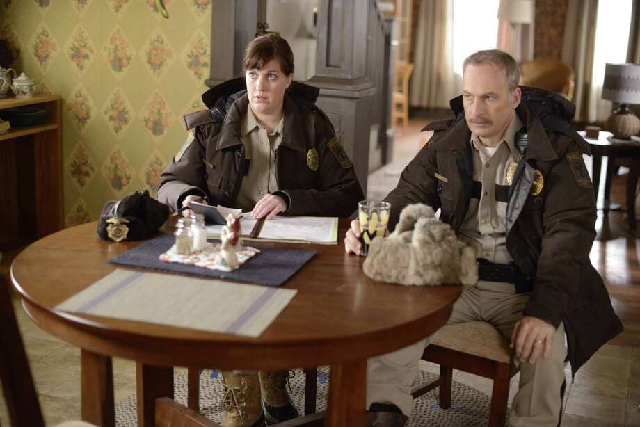 """In a scene from """"Fargo"""" are Allison Tolman as Molly Solverson and Bob Odenkirk as Bill Oswalt. CR: Chris Large/FX Photo: Chris Large, Network / Copyright 2014, FX Networks. All rights reserved."""