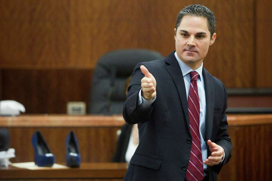 Prosecutor John Jordan gives his closing argument in the punishment phase of the trial against convicted killer Ana Trujillo on Friday, April 11, 2014, in Houston. Trujillo was convicted in the brutal 2013 slaying of her boyfriend, Alf Stefan Andersson, using a 5-inch stiletto shoe. Photo: Brett Coomer, Houston Chronicle / © 2014 Houston Chronicle