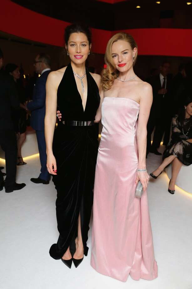 Actors Jessica Biel and Kate Bosworth attend the Tiffany Debut of the 2014 Blue Book on April 10, 2014 at the Guggenheim Museum in New York, United States. Photo: Neilson Barnard, Getty Images For Tiffany & Co.