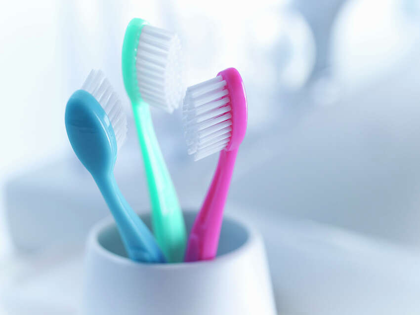 Replace: Every three to four months. Frayed and worn bristles are less effective at cleaning teeth.