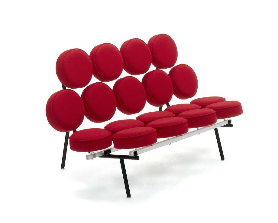 "Marshmallow Sofa (1956) from ""Designing Home."" Photo: Contemporary Jewish Museum"