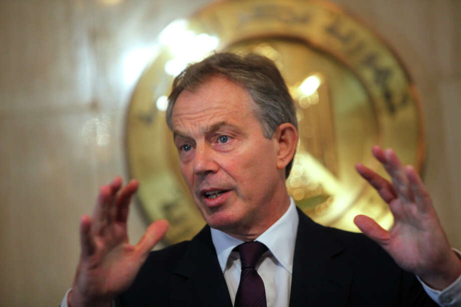 In September 2010,former UK Prime MinisterTony Blair was pelted with an egg and shoes during a book-signing in Dublin, Ireland. Photo: AMR NABIL, AP / AP