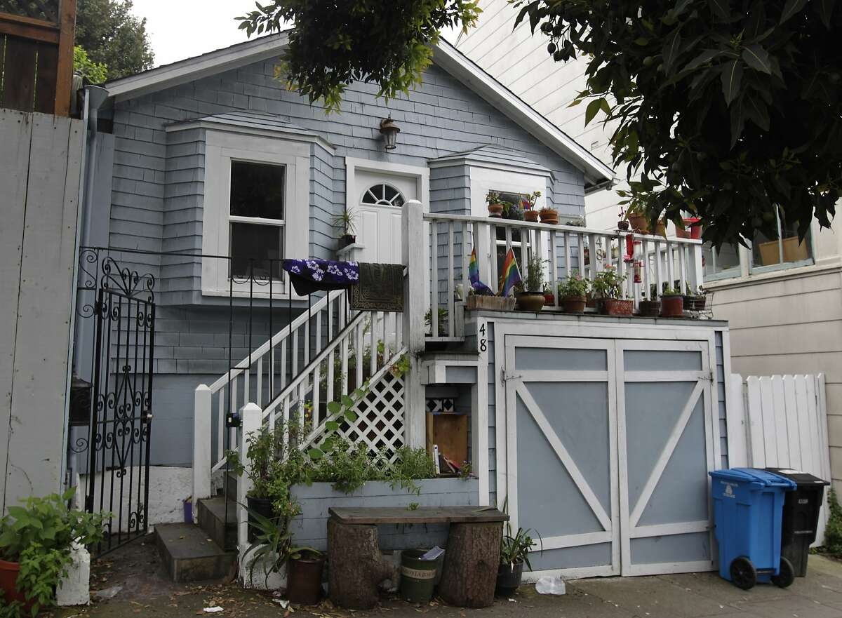 A refugee shack, built to house 1906 earthquake survivors, is now a home on Cortland Avenue in Bernal Heights in San Francisco, Calif. on Friday, April 11, 2014.