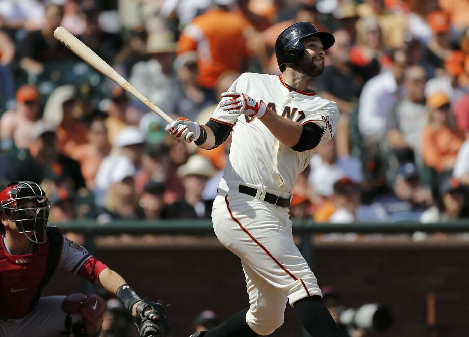 Brandon Belt is batting .308 with three home runs when batting from the No. 2 spot in the Giants' lineup. Photo: Michael Macor, The Chronicle