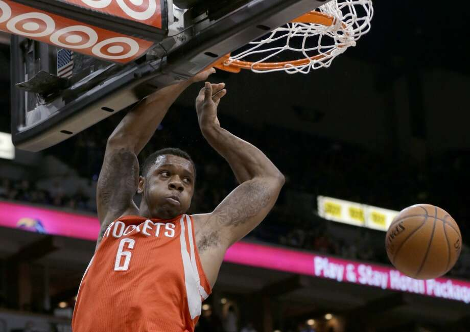 Rockets forward Terrence Jones dunks. Photo: Ann Heisenfelt, Associated Press
