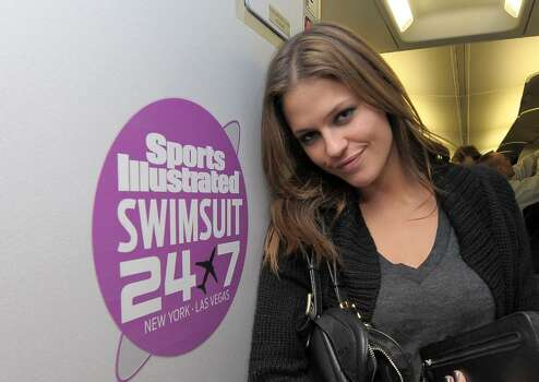 NEW YORK - FEBRUARY 09:  Sports Illustrated swimsuit model Dominique Piek boards the Sports Illustrated Swimsuit 24/7: New York To Las Vegas Air Tran Flight on February 9, 2010, New York City. (Photo by Michael Loccisano/Getty Images for Sports Illustrated) *** Local Caption *** Dominique Piek Photo: Michael Loccisano, Getty Images For Sports Illustra / 2010 Getty Images
