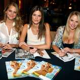 LAS VEGAS - FEBRUARY 10:  Sports Illustrated swimsuit models Esti Ginzburg,  Dominique Piek and Genevieve Morton attend the Sports Illustrated Swimsuit 24/7: Appearance At Garden Of The Gods at Caesars Palace on February 10, 2010 in Las Vegas, Nevada.  (Photo by Isaac Brekken/Getty Images for Sports Illustrated) *** Local Caption *** Genevieve Morton;Dominique Piek;Esti Ginzburg
