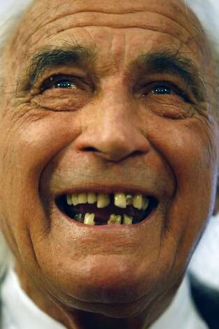Attorney J. Tony Serra explains missing teeth. Photo: Michael Short, The Chronicle