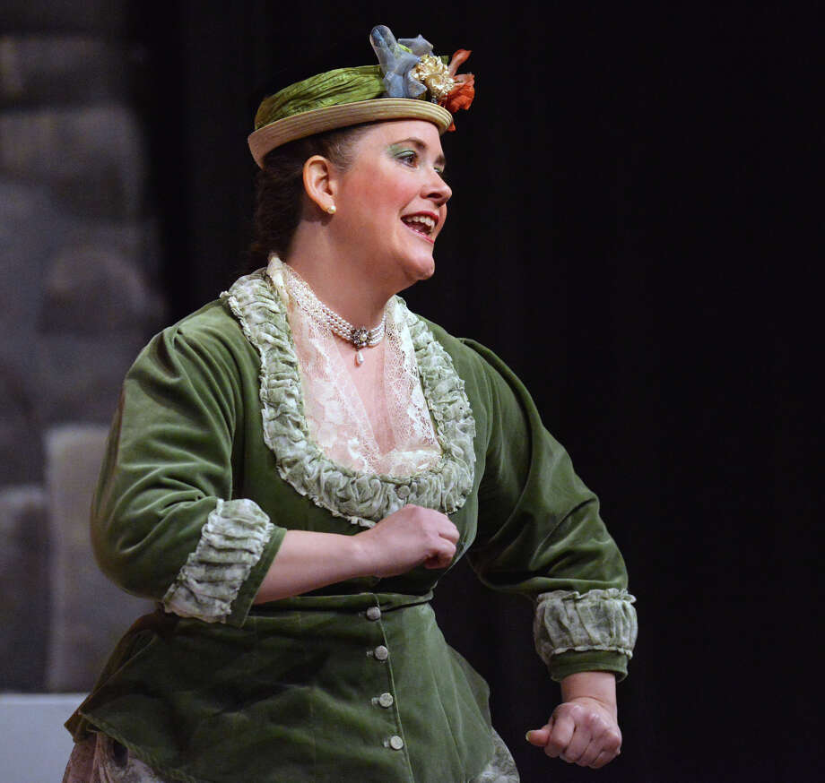 "Stamford resident Wendy Falconer as Kate during the Troupers Light Opera production of ""The Pirates of Penzance"" at Rippowam Middle School in Stamford, Saturday afternoon, April 12, 2014. Falconer is president of the company. Photo: Bob Luckey / Greenwich Time"