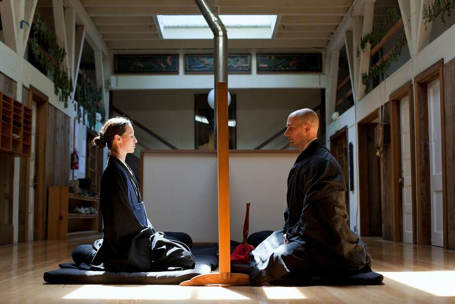 Meditation in the waiting area to speak with the Abbot (head of temple). Photo: Margo Moritz