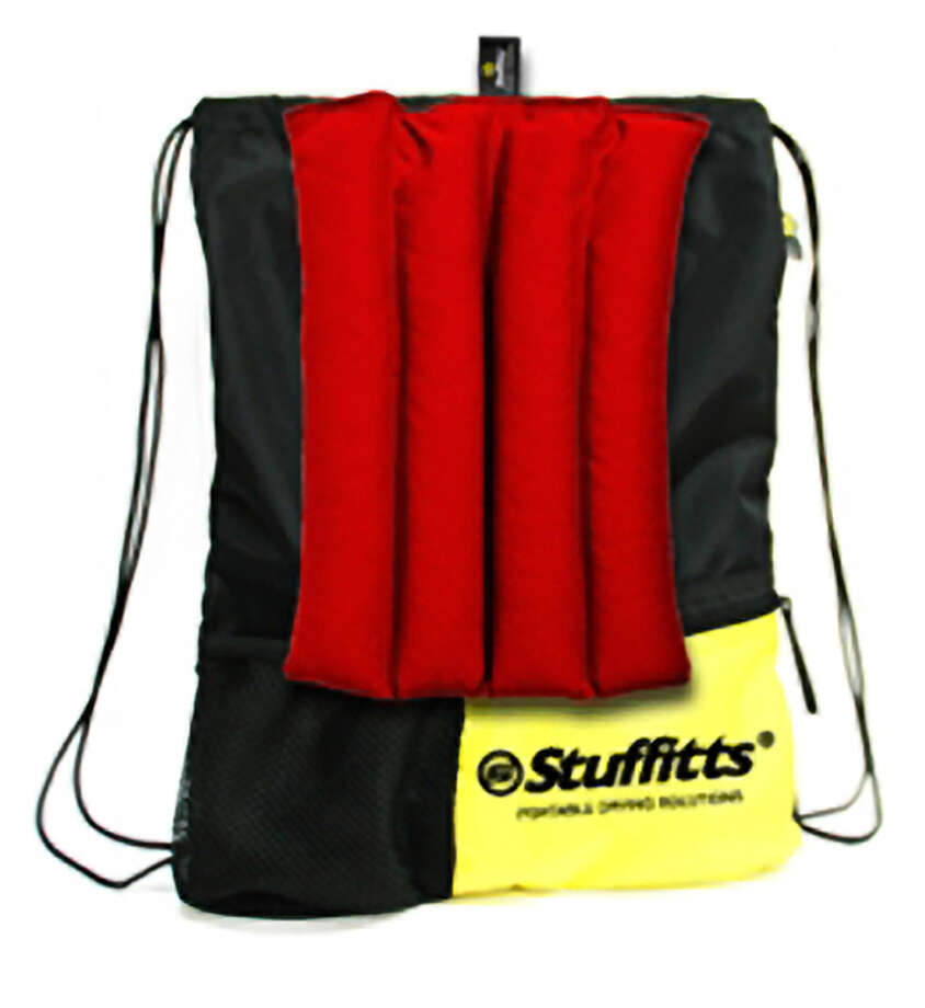Stuffitts Odor-Killing bag is a water-resistant, bacteria-preventing nylon bag that comes with airy cedar inserts that help to wick away moisture and fumigate anything from over-used socks to a damp towel. Photo: Stuffitts.com / ONLINE_YES