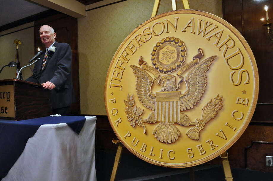 2011 Jefferson Award Medalist W. Brian Barr speaks after being informed that he will represent the Capital Region on the national level, during an awards dinner recognizing Barr and other medalists at the Century House on Monday night April 4, 2011 in Latham, NY. (Times Union archive)