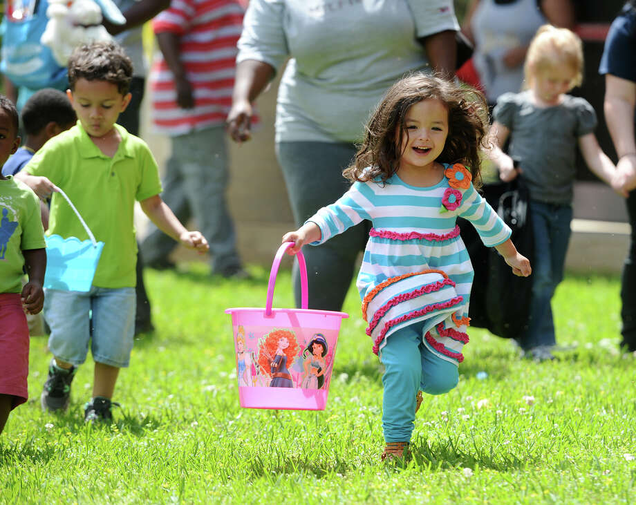 Magnolia Park2855 Magnolia St.Sterling Pruitt Activity Center and Recreation Division administration offices, pool, picnic shelters, restrooms, multi-purpose covered hard surface area with basketball goals, picnic tables, tennis courts and volleyball standards(File photo) Brylee Crum, 2, dashes for Easter eggs during Saturday's hunt at Magnolia Park.  Photo taken Saturday, 4/12/14 Jake Daniels/@JakeD_in_SETX Photo: Jake Daniels / ©2014 The Beaumont Enterprise/Jake Daniels