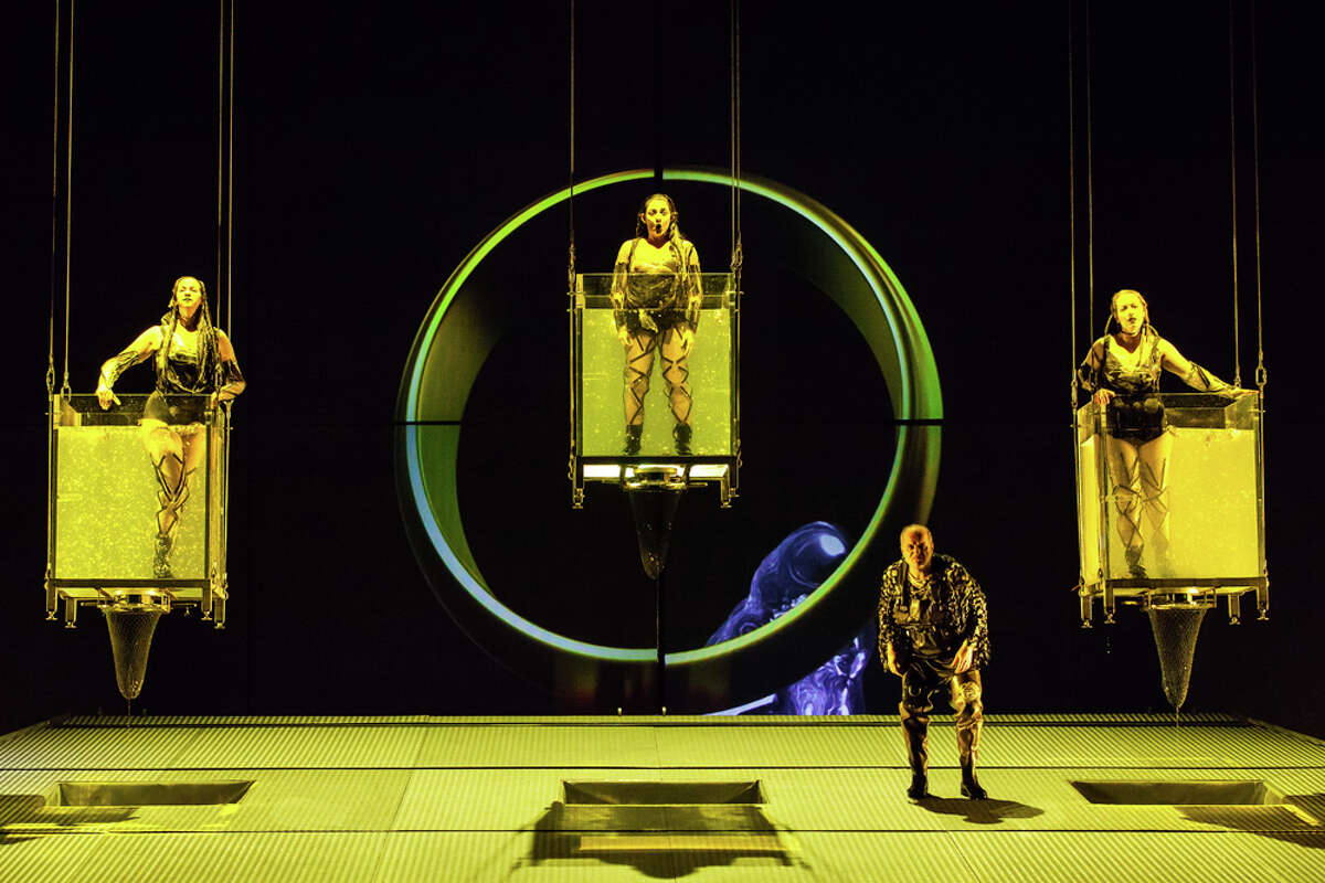 """Ticket sales for Houston Grand Opera's production of Richard Wagner's """"Das Rheingold"""" totaled 103 percent of capacity, thanks to the resale of turned-in tickets."""