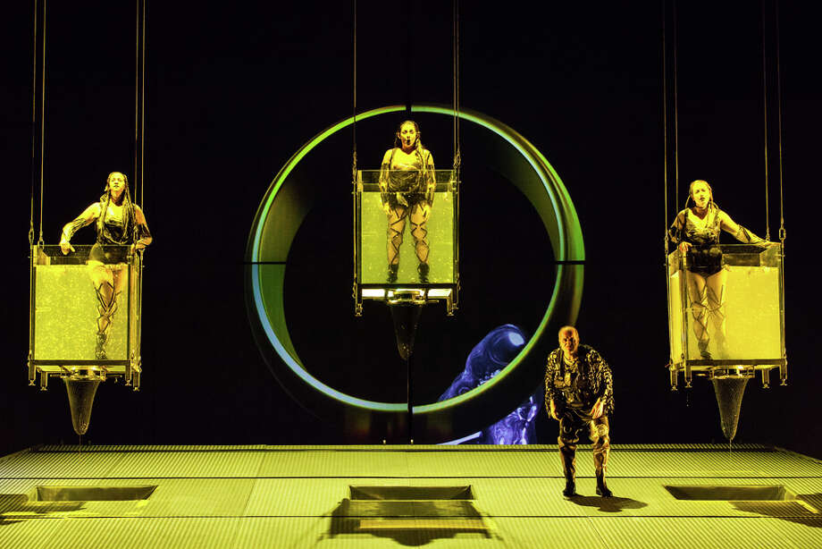 "Ticket sales for Houston Grand Opera's production of Richard Wagner's ""Das Rheingold"" totaled 103 percent of capacity, thanks to the resale of turned-in tickets. Photo: Lynn Lane / Lynn Lane"