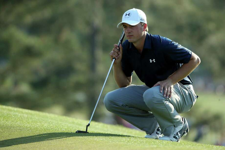 AUGUSTA, GA - APRIL 12:  Jordan Spieth of the United States lines up a putt on the 17th green during the third round of the 2014 Masters Tournament at Augusta National Golf Club on April 12, 2014 in Augusta, Georgia.  (Photo by Andrew Redington/Getty Images) ORG XMIT: 461742833 Photo: Andrew Redington / 2014 Getty Images