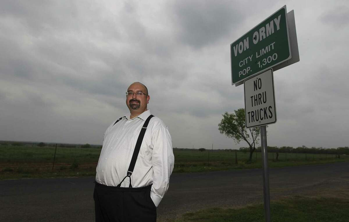 It was a comment by Art Martinez de Vara that led to the community of Von Ormy's incorporation. He has been the town's mayor since 2008 and has seen to it that the town has one of the lowest tax rates in the state.