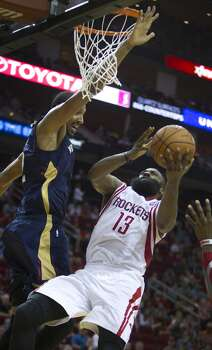 April 12: Rockets 111, Pelicans 104  Patrick Beverley and Dwight Howard returned to the lineup and the Rockets made a fourth-quarter comeback to knock off the Pelicans for the 3rd time this season.  Record: 53-27 Photo: Brett Coomer, Houston Chronicle
