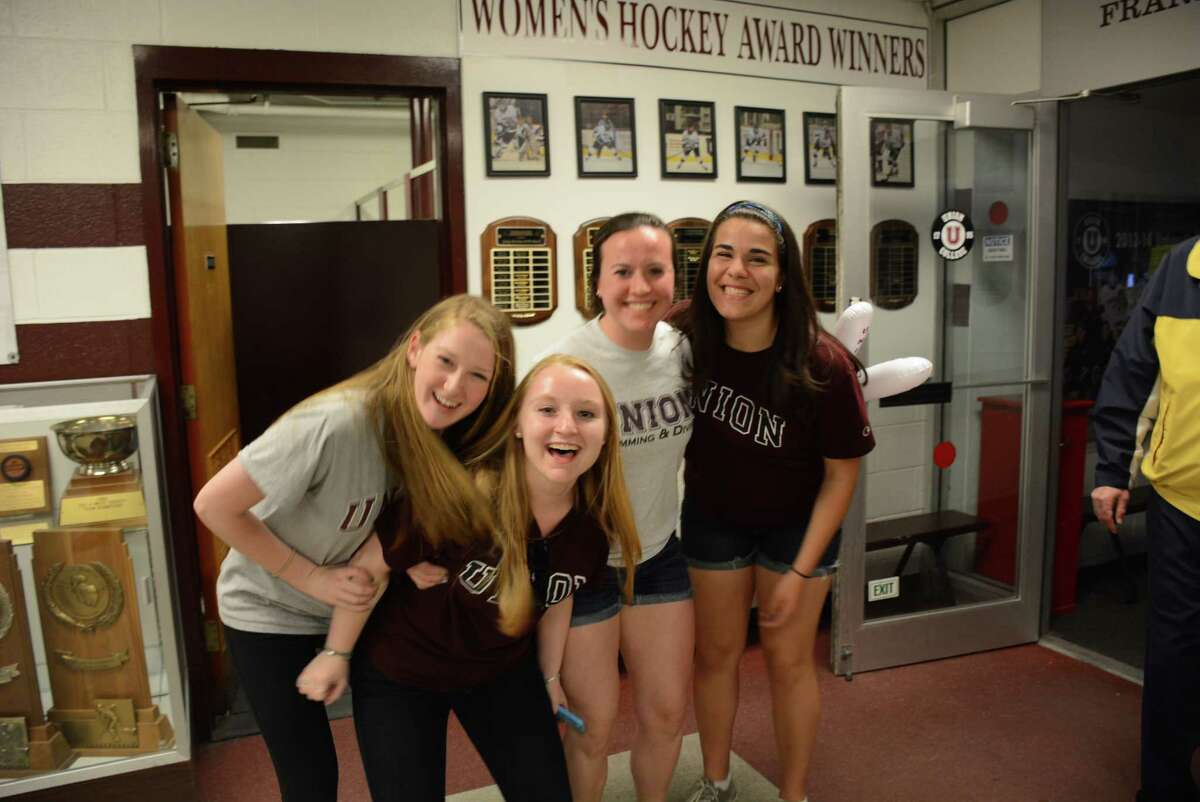 Were you Seen at Union College's Messa Rink watching the Union hockey team win its first national championship in Philadelphia on Saturday, April 12, 2014?
