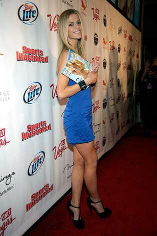 LAS VEGAS - FEBRUARY 10:  Sports Illustrated swimsuit model Brooklyn Decker arrives at the Sports Illustrated Swimsuit 24/7: SI Swimsuit On Location at Jet Nightclub at The Mirage on February 10, 2010 in Las Vegas, Nevada.  (Photo by Jacob Andrzejczak/Getty Images for Sports Illustrated) *** Local Caption *** Brooklyn Decker Photo: Jacob Andrzejczak, Getty Images For Sports Illustra / 2010 Getty Images