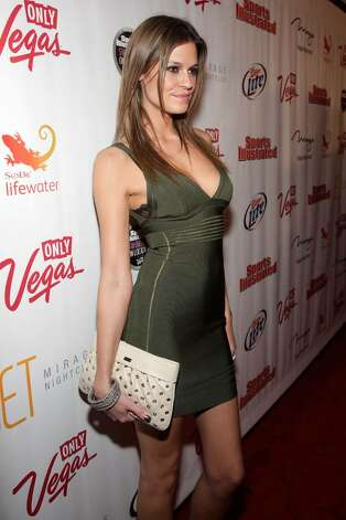 LAS VEGAS - FEBRUARY 10:  Sports Illustrated swimsuit model Dominique Piek arrives at the Sports Illustrated Swimsuit 24/7: SI Swimsuit On Location at Jet Nightclub at The Mirage on February 10, 2010 in Las Vegas, Nevada.  (Photo by Jacob Andrzejczak/Getty Images for Sports Illustrated) *** Local Caption *** Dominique Piek Photo: Jacob Andrzejczak, Getty Images For Sports Illustra / 2010 Getty Images