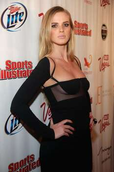 LAS VEGAS - FEBRUARY 10:  Sports Illustrated swimsuit model Anne V arrives at the Sports Illustrated Swimsuit 24/7: SI Swimsuit On Location at Jet Nightclub at The Mirage on February 10, 2010 in Las Vegas, Nevada.  (Photo by Jacob Andrzejczak/Getty Images for Sports Illustrated) *** Local Caption *** Anne V Photo: Jacob Andrzejczak, Getty Images For Sports Illustra / 2010 Getty Images