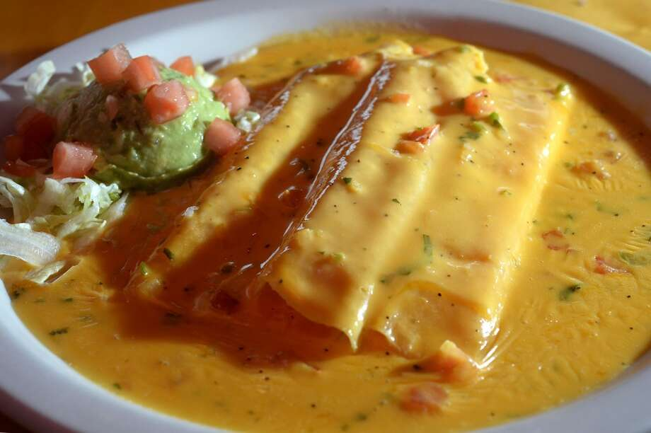 Caso cheese enchiladas at Lupe Tortilla in Beaumont. 2050 I-10 S in Beaumont. Photo taken Wednesday, April 2, 2014 Guiseppe Barranco/@spotnewsshooter
