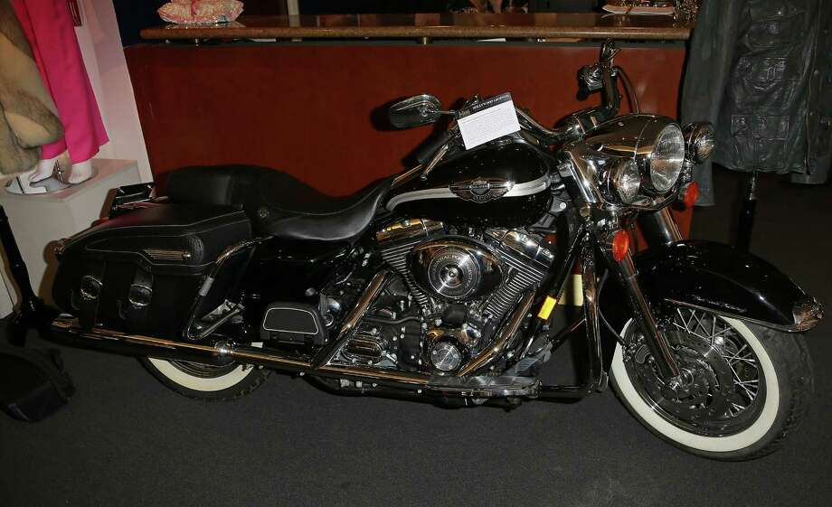 BEVERLY HILLS, CA - APRIL 07:  A David Hasselhoff 2003 Harley-Davidson FLHRCI Road King Classic motorcycle is displayed at Julien's Auctions Hollywood Legends 2014 Press Preview Day at Julien's Auctions Gallery on April 7, 2014 in Beverly Hills, California. Photo: David Livingston, Getty Images / Getty Images