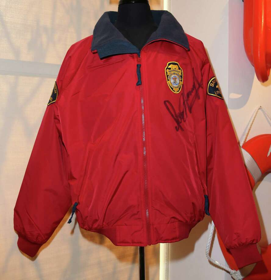 """BEVERLY HILLS, CA - APRIL 07:  A David Hasselhoff """"Baywatch"""" jacket is displayed at Julien's Auctions Hollywood Legends 2014 Press Preview Day at Julien's Auctions Gallery on April 7, 2014 in Beverly Hills, California. Photo: David Livingston, Getty Images / Getty Images"""