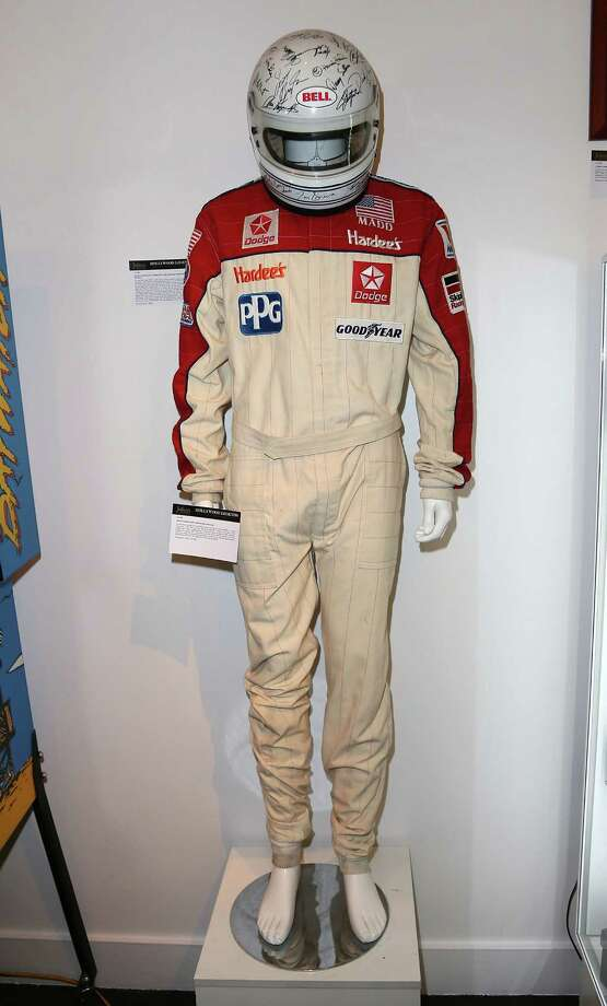 BEVERLY HILLS, CA - APRIL 07:  A David Hasselhoff racing suit is displayed at Julien's Auctions Hollywood Legends 2014 Press Preview Day at Julien's Auctions Gallery on April 7, 2014 in Beverly Hills, California. Photo: David Livingston, Getty Images / Getty Images
