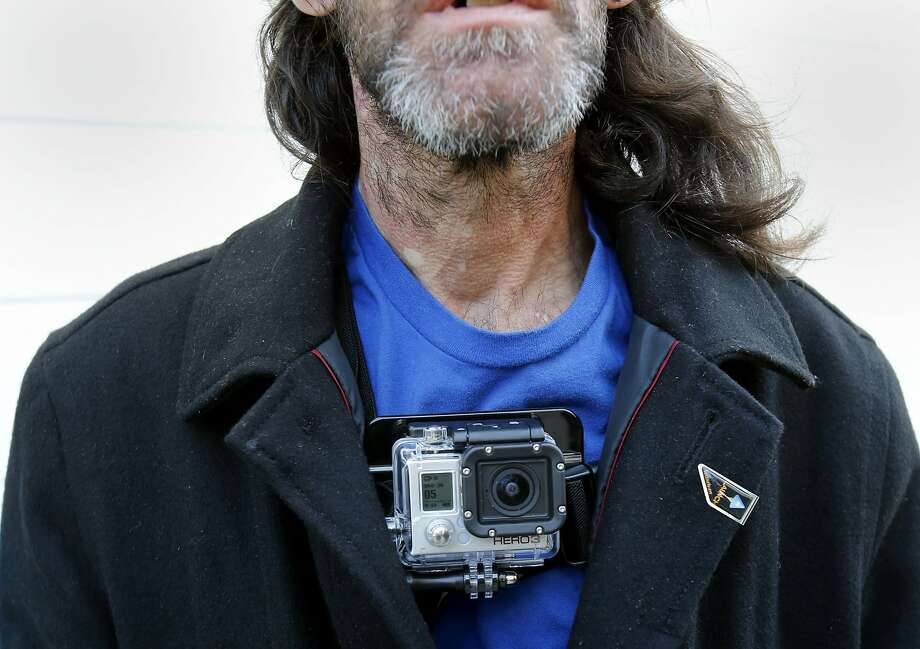 Homeless GoPro's first homeless participant is Adam Reichart, a handyman from Florida, who will wear the GoPro Hero3+ camera as he goes about his daily life. Photo: Brant Ward, The Chronicle