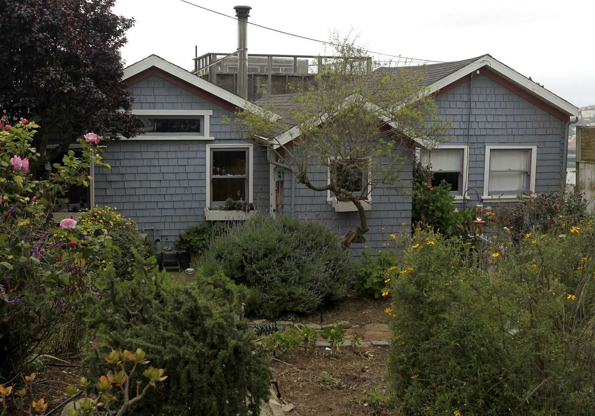 A pair of refugee shacks, built to house 1906 earthquake survivors, is now a home on Carver Street in Bernal Heights in San Francisco, Calif. on Friday, April 11, 2014.