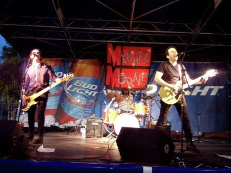 Michael Morales and his band perform at An Evening in 09 on April 12 at the Alamo Heights pool. Photo: Edmond Ortiz / Alamo Heights Wee