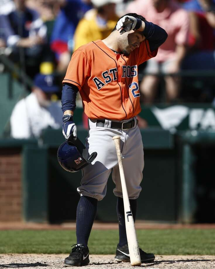 April 13: Rangers 1, Astros 0  It was a tough day for Astros' hitters as they only produced five hits in the shutout loss.  Record: 5-8. Photo: Jim Cowsert, Associated Press