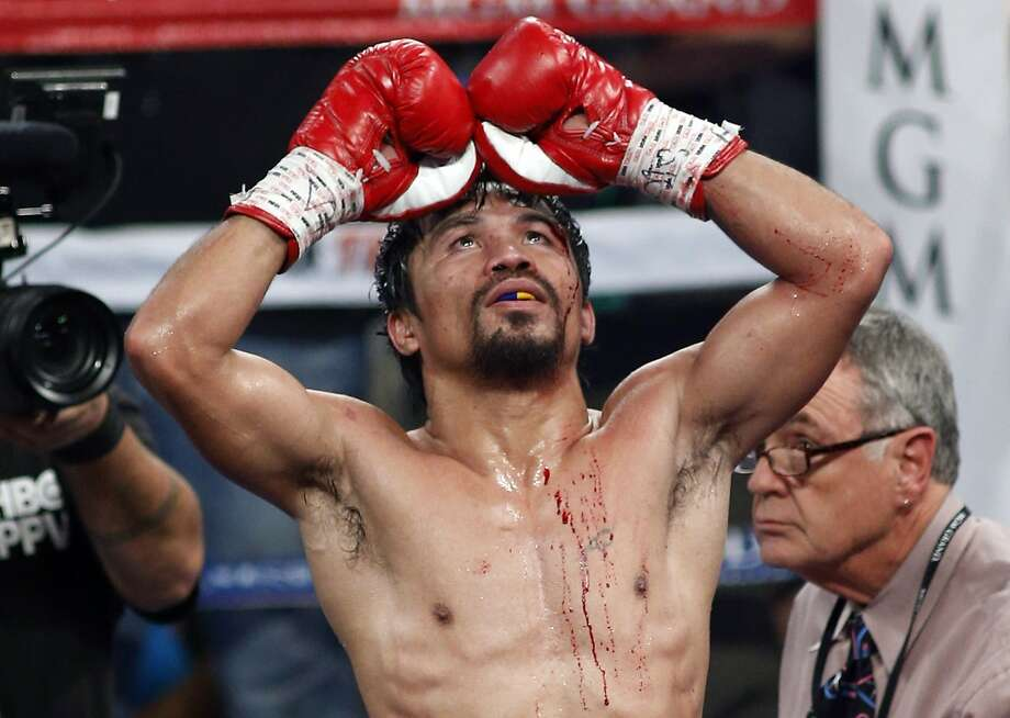 Manny Pacquiao of the Philippines showed a return to form (mostly) in beating Timothy Bradley. Photo: R. Marsh Starks, Reuters