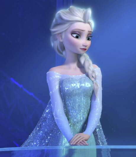 """Elsa's dress from """"Frozen"""" is being offered for as much as $1,600 on eBay. Photo: Associated Press / Disney"""