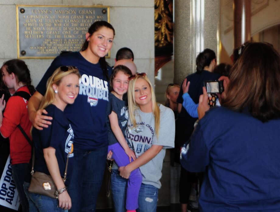 A Victory Parade and Rally was held for the UConn Men's and Women's Basketball teams in downtown Hartford, Conn. on Sunday April 13, 2014. Photo: Christian Abraham / Connecticut Post