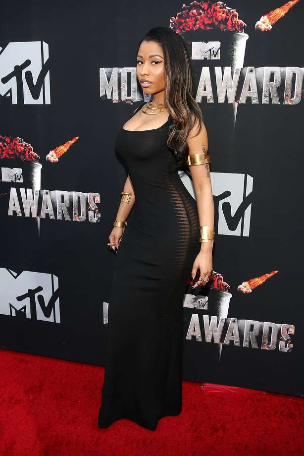 Recording artist Nicki Minaj attends the 2014 MTV Movie Awards at Nokia Theatre L.A. Live on April 13, 2014 in Los Angeles, California.  (Photo by Rich Polk/Getty Images for MTV) Photo: Rich Polk, Getty Images For MTV