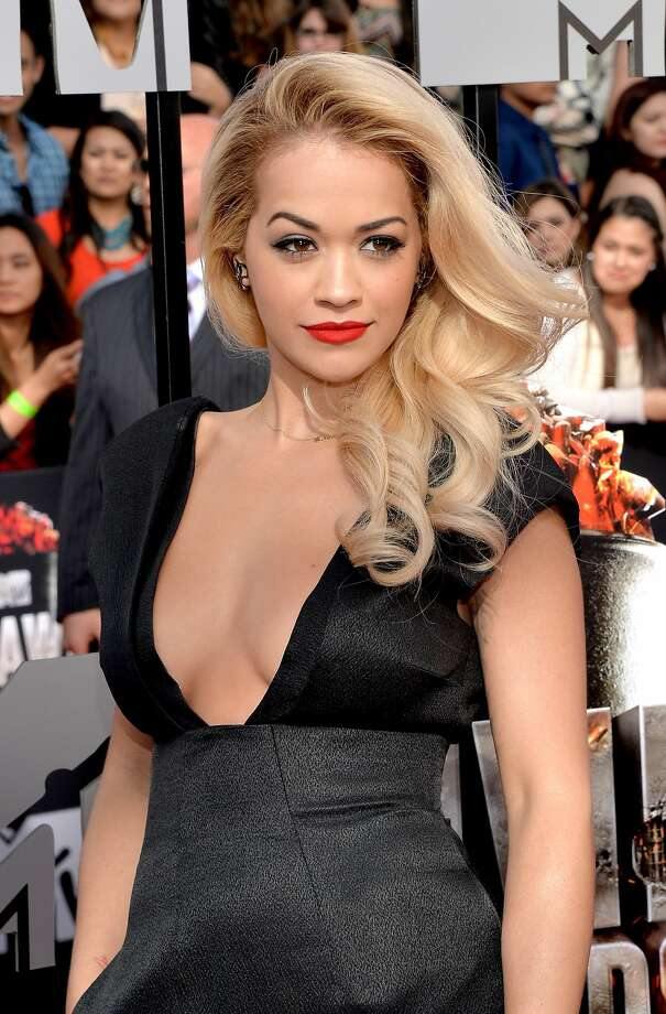 Singer Rita Ora attends the 2014 MTV Movie Awards at Nokia Theatre L.A. Live on April 13, 2014 in Los Angeles, California.  (Photo by Michael Buckner/Getty Images) Photo: Michael Buckner, Getty Images