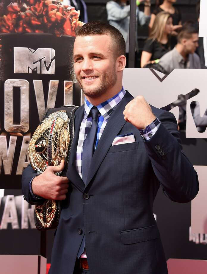 Mixed martial artist Pat Curran attends the 2014 MTV Movie Awards at Nokia Theatre L.A. Live on April 13, 2014 in Los Angeles, California.  (Photo by Jason Merritt/Getty Images for MTV) Photo: Jason Merritt, Getty Images For MTV